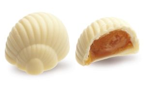 Конфеты ручной работы Frade АТЛАНТИС Вкус приятных воспоминаний не забывается. Яблочный джем и нежная карамель в белом шоколаде всегда рядом.