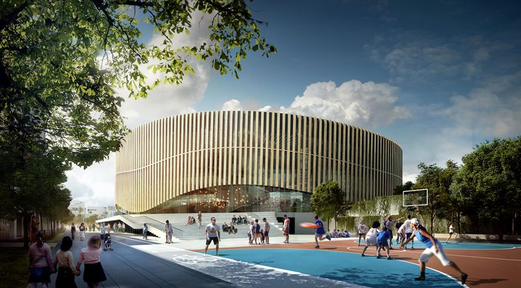 Royal Arena CPH - Facade udført i Accoya. Foto: 3XN.