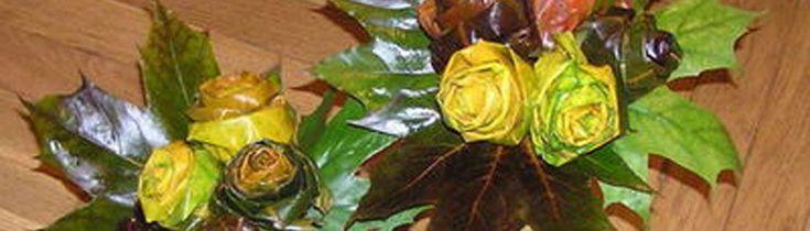 Cómo hacer rosas con hojas de arce