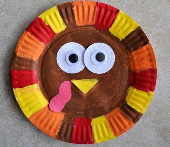 Turkey Craft Idea For Kids Handprint And Footprint Art Activities Finger Print Activity Paper Plate Ideas Tissue