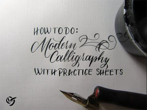 Full Post: Free Practice Sheets: http://calligrascape.com/modern-calligraphy/ Ink, Pointed Pen and Nib can be found here: http://calligrascape.com/calligraph...