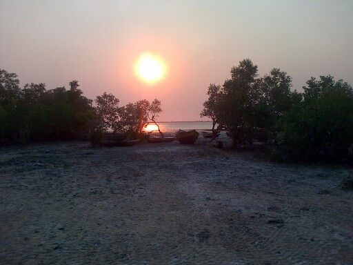 Mozambique sunset in Pebane
