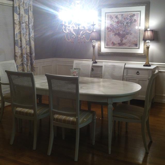craigslist dining room set makeover for the home pinterest