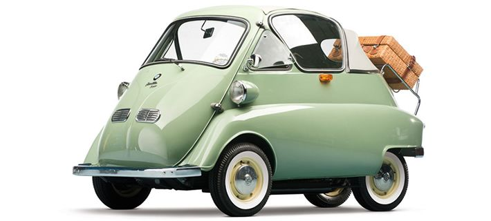 "BMW Isetta at the ""Micro Cars, Great Stories"" exhibition, at Museu do Caramulo Museum, until this December."