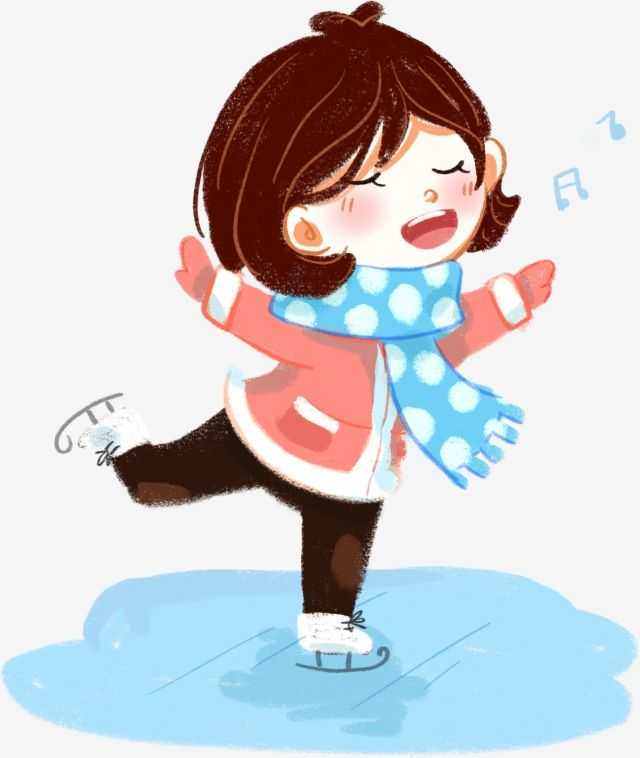 Winter Winter Winter Ice Skating Sing Little Girl Cartoon Wind Png Transparent Clipart Image And Psd File For Free Download Little Girl Cartoon Ice Skating Winter Clipart