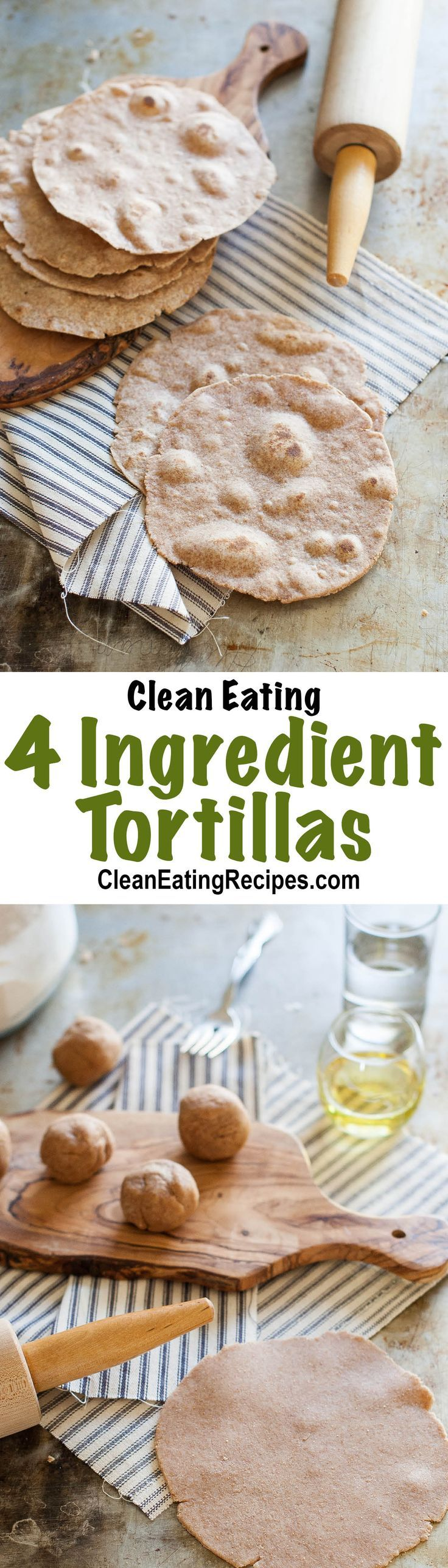I love this Clean Eating Tortillas Recipe.They only take a few minutes to cook. I've made these hundreds of times. These can be used for tortillas, tacos, low carb pizza crusts, wraps, etc.