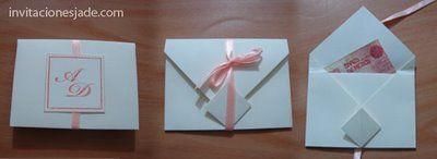 Invitación de boda con sobre para dinero :: Tarjetas de invitación para bodas con sobre para dinero