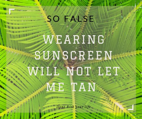 SO FALSE - Wearing sunscreen will prevent me from tanning. Why is Suncare so important...https://thebeautyclinicblog.wordpress.com/2017/02/15/why-sun-care-is-so-important/