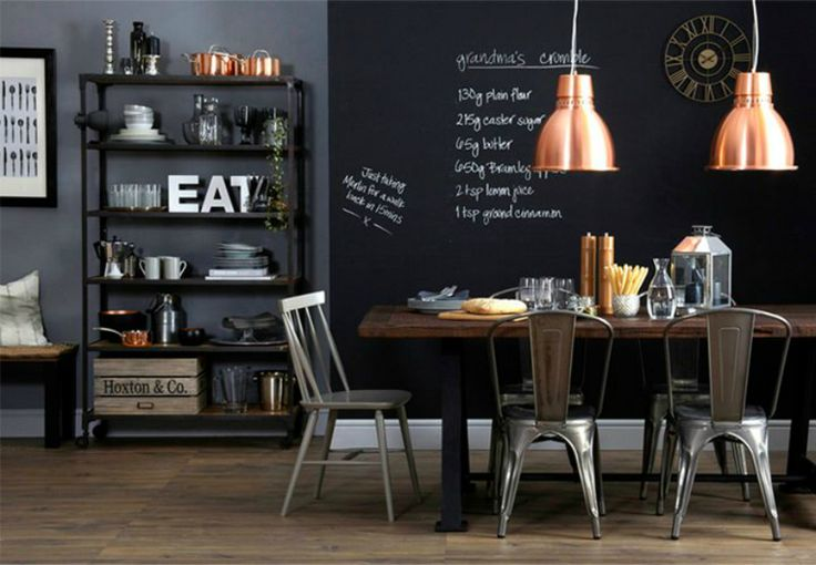 Pittura effetto lavagna: parete dipinta | DIY Blackboard paint wall • #lavagna #design #blackboard #paint #DIY #decor