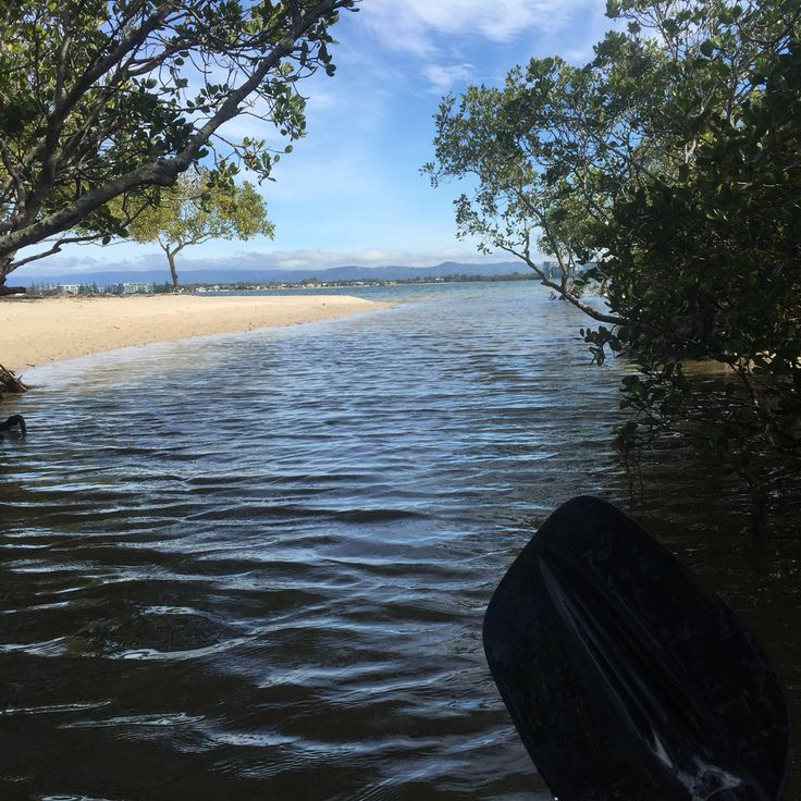 Little creek on south Stradbroke