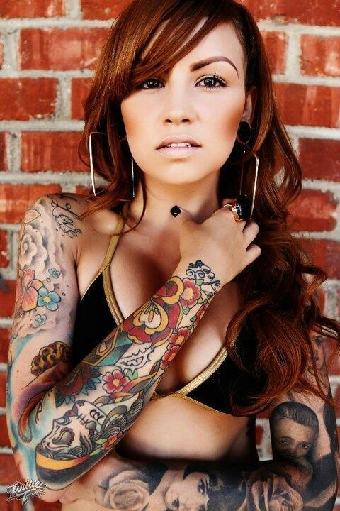1000 Images About Full Sleeve Tattoos Girls On Pinterest