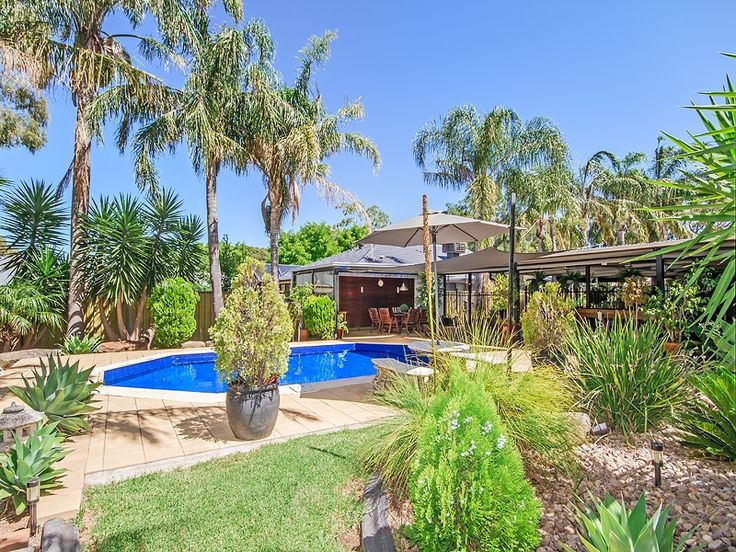 #Pool & #Outdoor #Entertaining area of home in #OnkaparingaHills. Call Professionals Christies Beach, real estate agency - 08 8382 3773. #RealEstate #pool #Tropical #PalmTrees