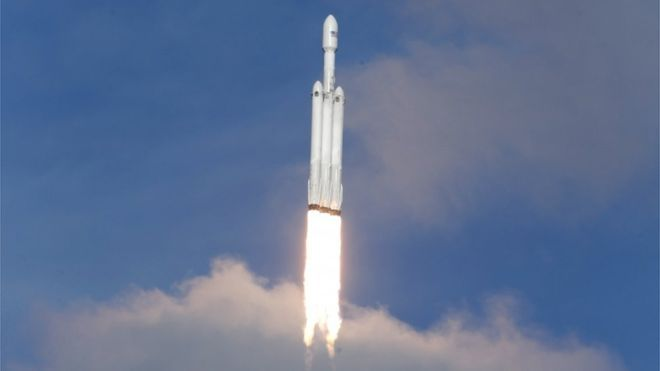 Elon Musk's Falcon Heavy rocket launches successfully from the Kennedy Space Center in Florida.Here is the historical news for the world as Elon Musk has just launched his new rocket, the Falcon Heavy.