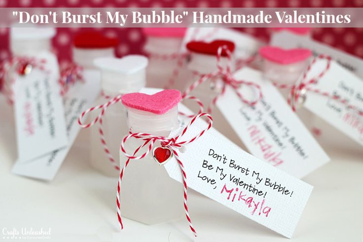 "Easy & Cute ""Don't Burst My Bubble"" Valentine Crafts- full tutorial, and free (30 tags to one sheet) download."