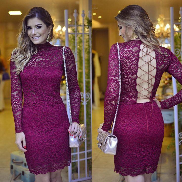 93 best vestidos images on Pinterest   Cute dresses, Lace dresses ...