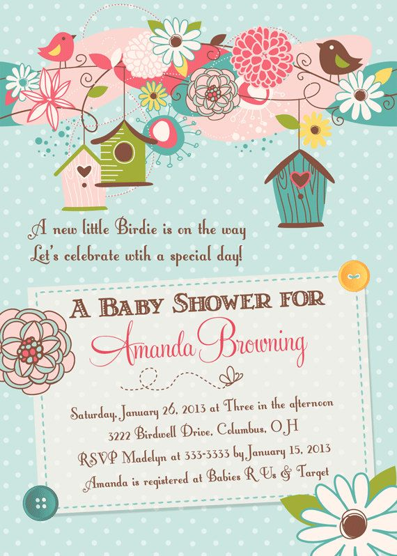 Birds and Bird Houses Baby Shower Invitation  by PartyPopInvites, $16.00