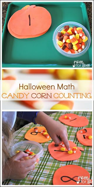 Mess For Less: Halloween Math: Candy Corn Counting.... Need to work on teens, this would be motivation