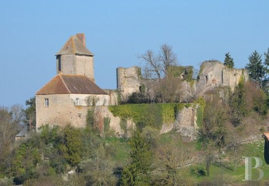 A 12th and 13th century fortress and an 18th century dwelling in the Bourbonnais region - ruins for sale France - in Sologne, Touraine, Loire valley, Burgundy, Auvergne. - Patrice Besse Castles and Mansions of France is a Paris based real-estate agency specialised in the sale of Ruins.