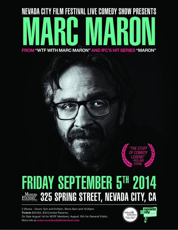 Marc Maron coming to NCFF!