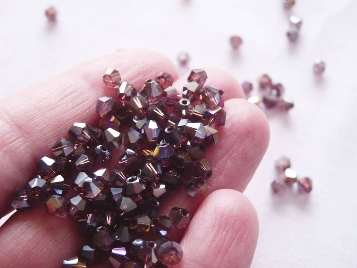 Excited to share the latest addition to my #etsy shop: Purple Crystal Beads, 4mm AB Crystal Beads, Bicone Beads, Faceted Crystal Beads, Deep Purple Faceted Bicone Beads, Glass Beads http://etsy.me/2EHXko3