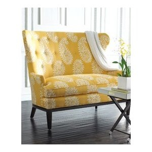 yellow settee horchow furniture $1499