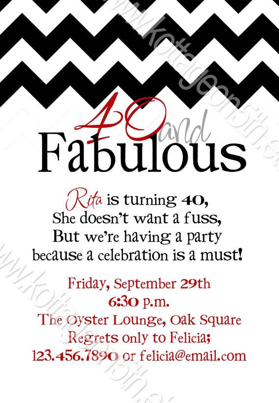 Fabulous Chevron 21st 30th 40th 50th 60th Birthday Party