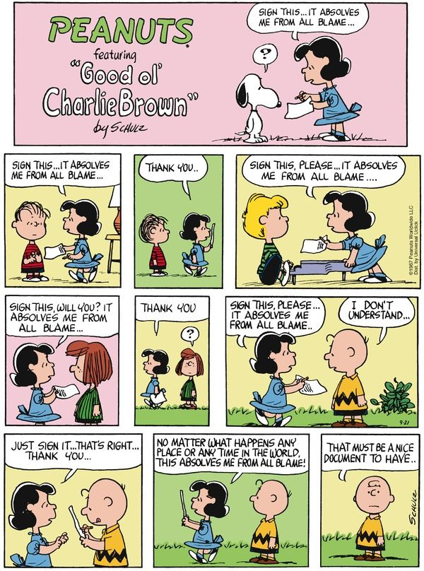 I need one. Peanuts for 9/21/2014 | Peanuts | Comics | ArcaMax Publishing