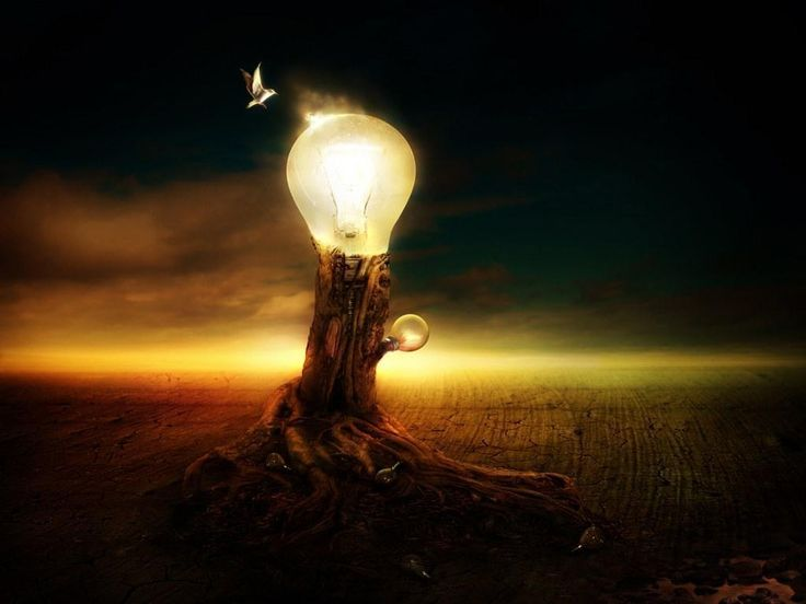 The World in Bulb - fantasy Wallpaper