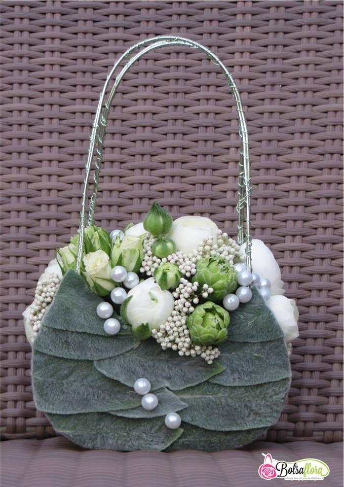 Bolsa Flora White GreenI | Bolsa Flora