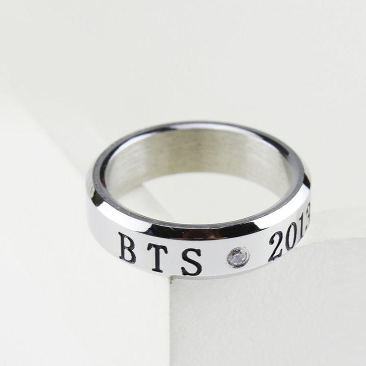 Korean Kpop Fan BTS Bangtan Boys Ring Bulletproof Boy Scouts Jewelry Unisex