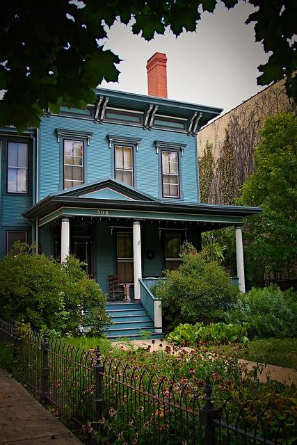 Sweet Blue House by FrankMcDade, via Flickr