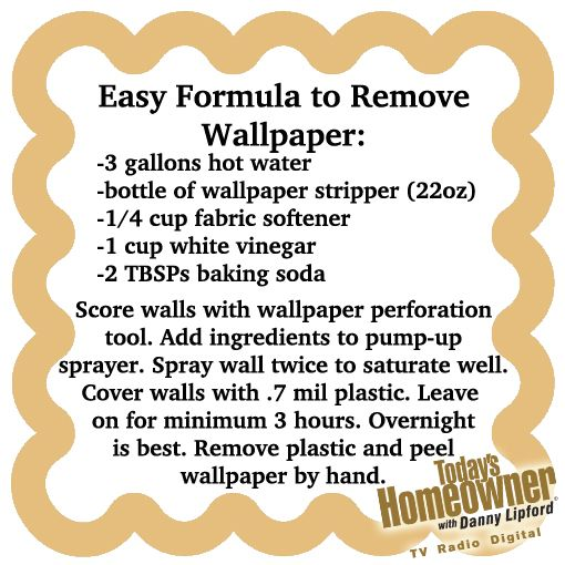 Easy Way To Remove Wallpaper Peels Off By Hand If You Leave The Plastic On