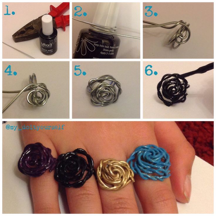 ···DIY rose wire rings tutorial!!!···