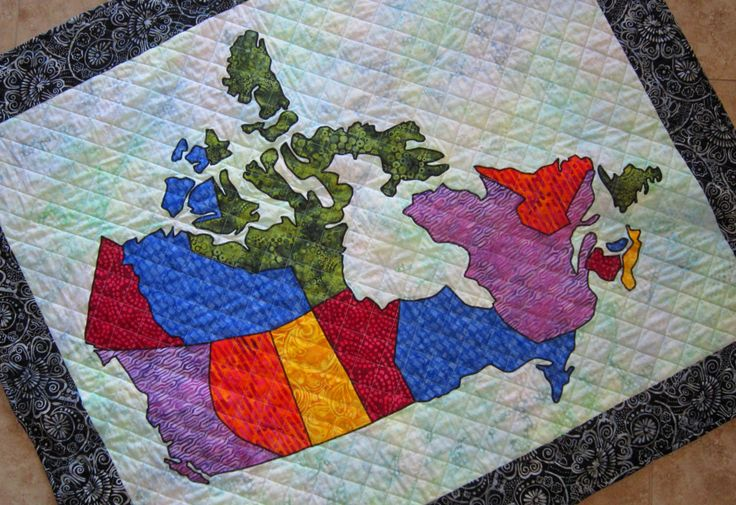 PDF Pattern Canada Patchwork Map Quilt Pattern from Quilts by Elena Full Sized Templates and Clear Instructions by carolinasquirrell on Etsy https://www.etsy.com/ca/listing/264971775/pdf-pattern-canada-patchwork-map-quilt