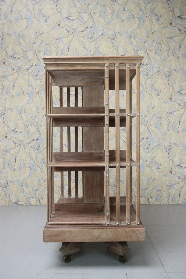 19th Century Pale walnut Antique Revolving Bookcase