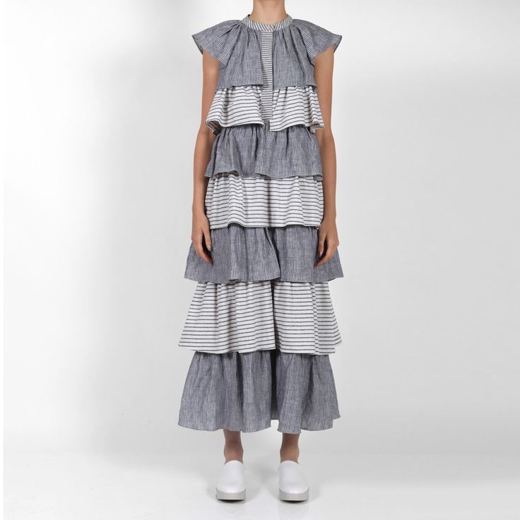 Valin Dress blu/bone