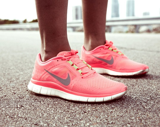 Just got these! ♥ Nike Free Run+ 3 hot punch MADE BY NIKE: Running Shoes, Fashion, Style, Fitness, Nike Shoes, Nike Free Runs, Pink Nike, Workout