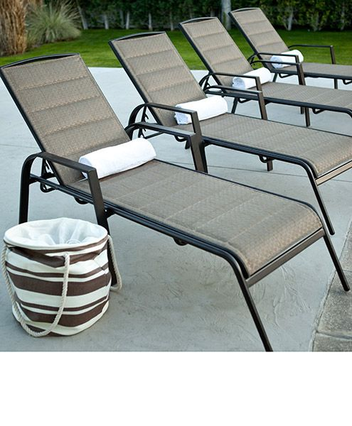Aluminium pool lounge chairs