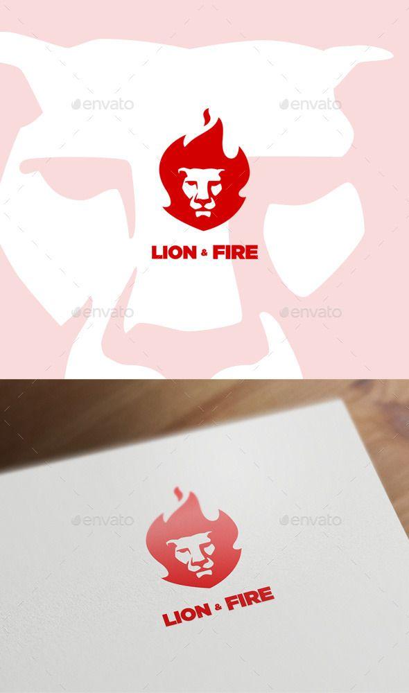 Lion & Fire Logo Template Vector EPS, AI #logotype Download: http://graphicriver.net/item/lion-fire/11306707?ref=ksioks