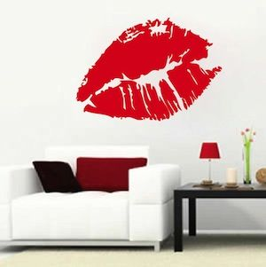 Sexy Lips Wall Decal & Wall Stickers From Trendy Wall Designs