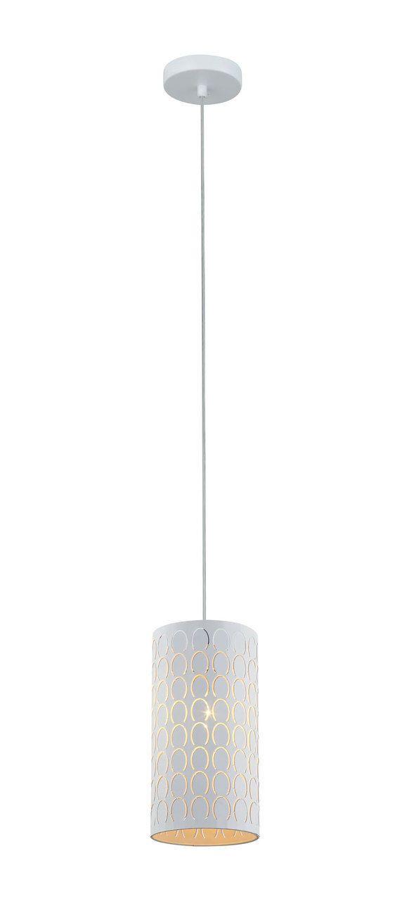 Drum Pendant Light White Embossed Oblong Lighting Style White