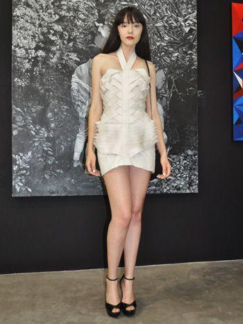 Tina Walsen: dress by Matias Hernan, shoes by Aldo, purse by Gacel