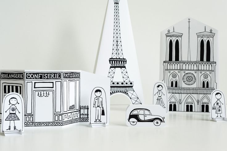 Free printable Paris city at Made by JoelPaper Cities, Weekend Projects, En Kits, For Kids, Paris En, Helsinki, Buildings, Blog, Crafts