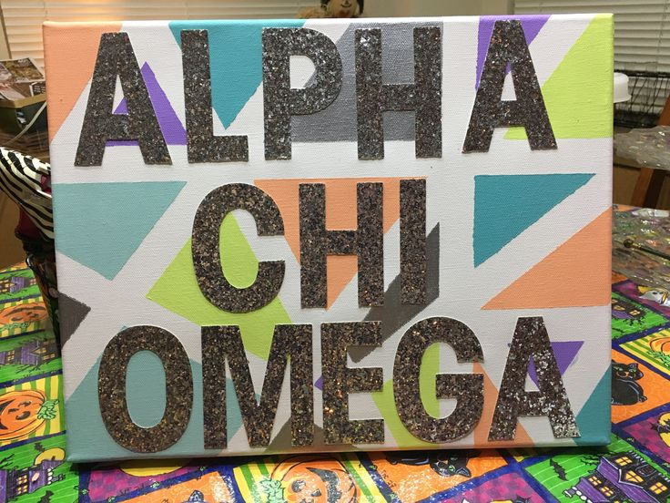 Alpha chi omega craft- big and little