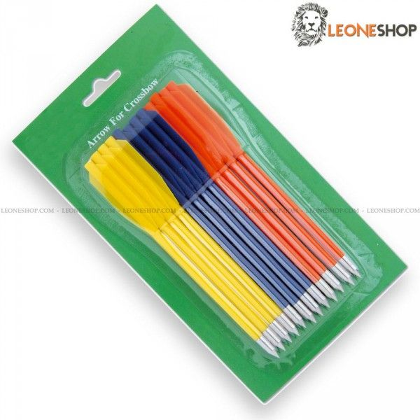 Pistol Crossbow Darts MAN-KUNG, Crossbows spare parts, slingshots and blowguns - Blister of 12 darts for pistol crossbow with plastic body and metal tip, for pistol crossbows MAN-KUNG - For items MKE-B2, MKE-A2, MKE-A3, MKE-A4 and MKE-A4E - Crossbow spare parts, rubber bands for slingshot, darts and strings for crossbow and the whole series of dedicated spares.