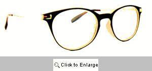 Dickens Small Round Reading Glasses - 522 Black/Mocha