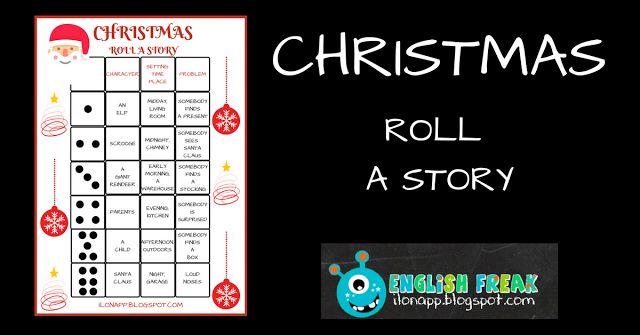 English Freak | Blog o nauczaniu języków obcych: CHRISTMAS - ROLL A STORY (PRINTABLE)