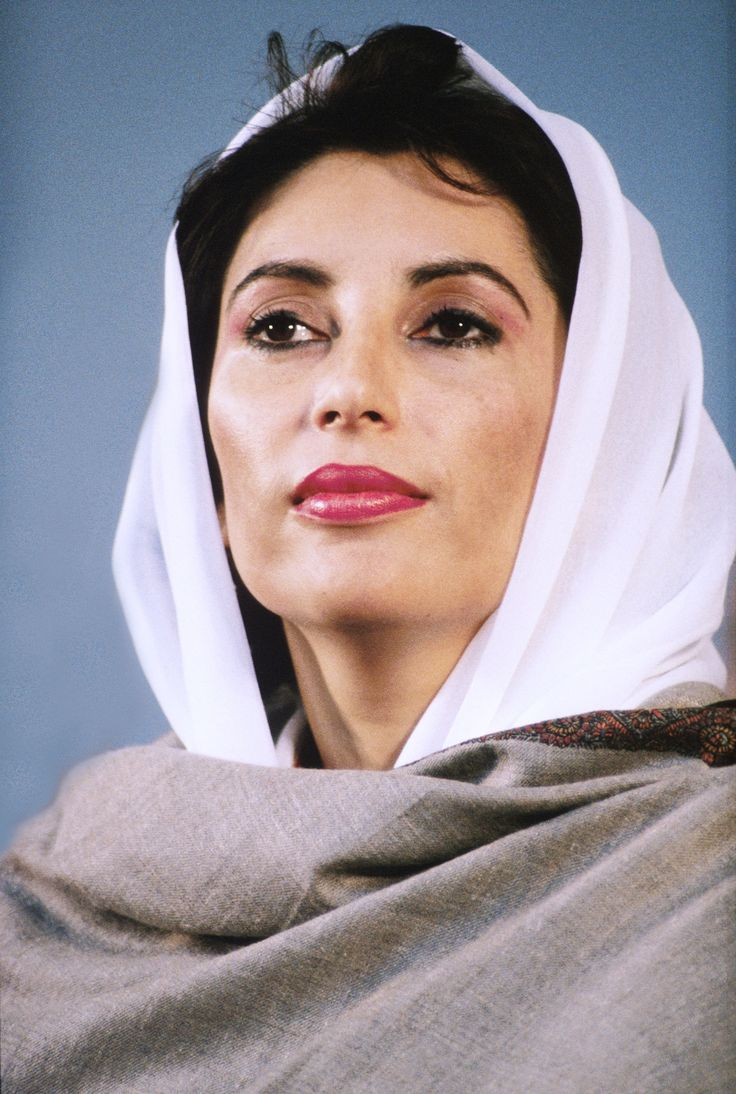 Benazir Bhutto: 1st Woman Prime Minister of Pakistan. She led the Islamic state through democratic political transformation. She was assassinated in 2007.