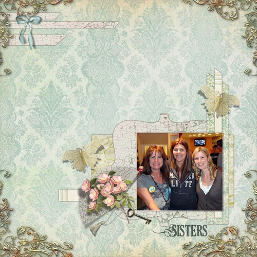 Love how the photo pops on this page.  Spring Heritage Collection by Lauren Bavin