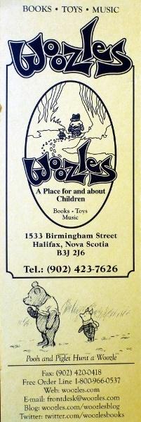 Woozles Books. Halifax, NS.